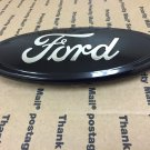 """NEW FORD TRUCK FRONT OR REAR TAILGATE HOOD GRILL GRILLE LOGO OVAL 9"""""""" ALL BLACK"""