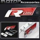 3D Metal R-line Racing Front Hood Grille Badge Emblem R LINE Logo