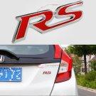 3D Metal RS Badge Logo racing Emblem for Camaro Audi Ford Focus Honda Fit Jazz