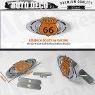 Route 66 Logo 3D Metal 66 Racing Front Hood Grille Badge Emblem Car Decoration
