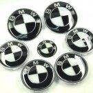7x emblem SET  Black White Emblem Logo FIT For BMW² e60 e90 e46 f10
