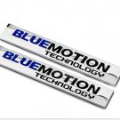 "2 pcs 3D Metal""""BLUEMOTI<wbr/>ON""""Technology Logo Car SUV Body Fender Emblem Badge"