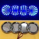 3D LED Car Tail Logo Blue Light for Audi Q3 Q5 A1 A3 TT Auto Badge Light Emblem