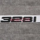 """Black """""""" 328 i """""""" Number Trunk Letters Emblem Badge Sticker for BMW 3 Series 328i"""
