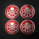 4pcs Aluminum Octopus Hydra Logo Marvel Car Trunk Decal Sticker Badge Emblems