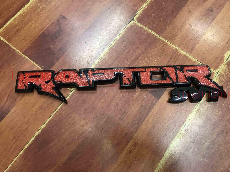 """red 14.7"""""""" RAPTOR SVT Tailgate Emblem Rear Badge Sticker for Ford F150 2010-2018"""