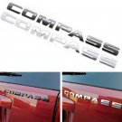 Chrome Black ABS Letters Words Emblem Badge Decal Sticker for Jeep Compass 1PCS