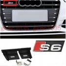 AUDI S6 Grill Badge Front Emblem ABS Chrome Grille fit 2005-2011 A6 A6L S6 RS6