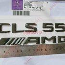 Gloss Black Number Letters Rear Trunk Badge Emblem for Mercedes Benz CLS55 AMG