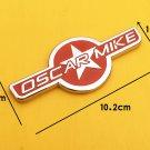 Metal Chrome Red OSCAR MIKE Car Trunk Tailgate Emblem Badge Decal Sticker