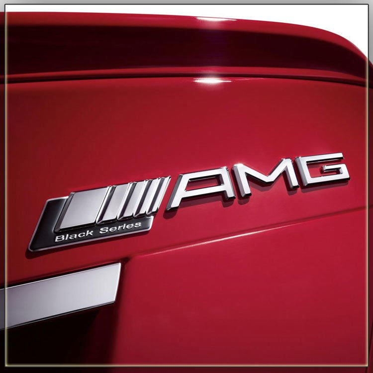 L AMG Letters Trunk Emblem Badge Sticker for Mercedes Benz C63 W205 W212