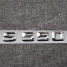 Chrome Letters Number Trunk Emblem Badge Sticker for Mercedes Benz S550 2017