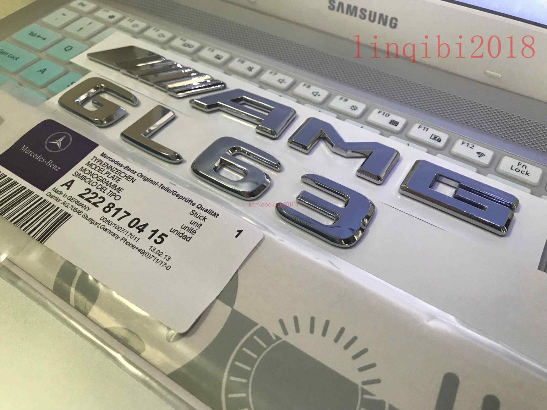 "2018 """" GL63 + AMG"""" High quality Rear Trunk Emblem Decal Badge FOR Mercedes Benz"