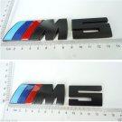 1PCS  Black ///M5 Metal Body Rear Trunk Lid Stickers Badge Emblem For BMW M5