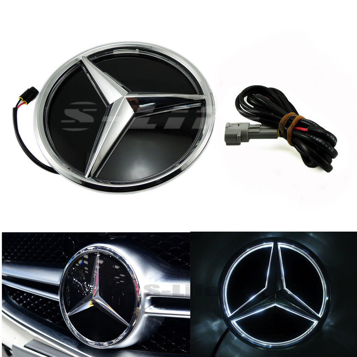Illuminated Car Led Grille BlLED Logo Emblem Light For Mercedes Benz GLC GLE GLS