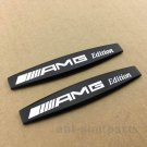 2x Metal Black AMG Fender Badge Emblems Decal Sticker Mercedes Benz C CL SL SLK
