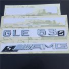 GLE 63 S + AMG S Letters Trunk Emblem Badge Sticker for Mercedes Benz GLE