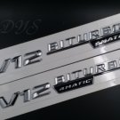 Chrome V12 BITURBO 4MATIC Letters Trunk Emblem Badge for Mercedes Benz