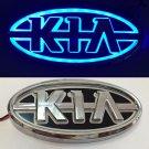 5D LED Car Tail Logo Blue  Light for KIA    Auto Badge Light Emblems