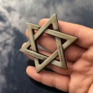 Bronze Metal Chrome Star of David Jewish Car Trunk Emblem Badge Decal Sticker