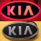 4D LED Car Tail Logo Red  Light for KIA  Auto Badge Light Emblems