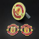 3pcs Metal Manchester United Logo Car Front Grille Emblem Badge Decal Sticker