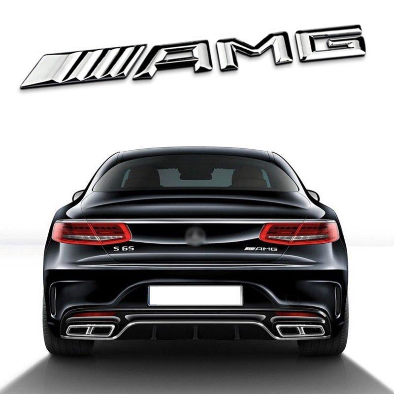 New Car Metal AMG letter Emblem Badge Sticker For Benz Car Body Rear Trunk Lid