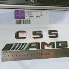 """Glossy Black Letters """"""""C 55 ///AMG"""""""" Trunk Badge Emblem Sticker for Benz for"""