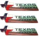 3pcs Chrome TEXAS EDITION Car Trunk Tailgate Emblem Badge Decal Sticker ABS