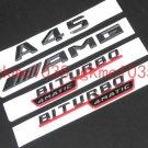"""Matte Black """"""""A45 AMG BITURBO 4MATIC"""""""" Number Emblem Sticker for Mercedes-Benz"""