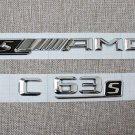 HIGH QUALITY ABS Chrome Emblem Badge C63s sAMG for Mercedes Benz C63 W205 W212