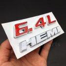 6.4L HEMI Badges Emblem Decal Sticker Car Auto SRT6 8 10 R/T