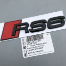glossy black Audi RS6 Metal Badge Rear Boot Emblem S Line A 1 2 3 4 5 6 7 Q RS S