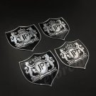 4pcs Metal JUNCTION PRODUCE JP Luxury Car Trunk Side Emblem Decal Sticker Badge