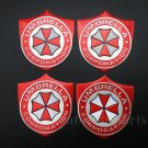 4x Aluminum Resident Evil Umbrella Car Trunk Tailgate Emblem Badge Decal Sticker