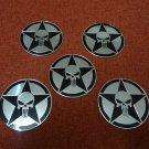 5pcs Aluminum Punisher Logo Car Side Trunk Decal Sticker Badge Emblem Motorcycle