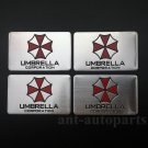 4pcs Aluminum Resident Evil Umbrella Car Trunk Rear Emblem Badge Decal Sticker