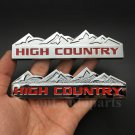 2pcs Metal Red High Country Emblem Car Trunk Fender Rear Badge Decal Sticker