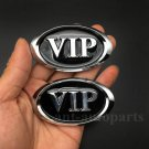 2pcs Black VIP Luxury Auto Car Trunk Side Tailgate Emblem Badge Decal Sticker
