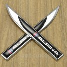 Pair Metal Alipina Emblem Car Badge Sticker Decal Auto Trunk Rear Tailgate