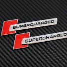 2x Metal SUPERCHARGED Auto Car Trunk Rear Tailgate Sticker Emblem Badge Decals