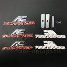 3x Metal AC Schnitzer Logo Emblem Grille Badge Decal Sticker Auto Trunk Rear