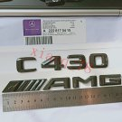 "Glossy Black Letters """"C 430 ///AMG"""" Trunk Badge Emblem Sticker for Benz for"