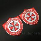 2x Aluminum Resident Evil Umbrella Car Trunk Tailgate Emblem Badge Decal Sticker