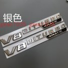 "2 x2018 Flat Chrome """" V8 BITURBO 4MATIC """" Letters Emblem Badge for Mercedes Benz"