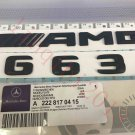 "Matt black """" G63 + AMG """" Letters Trunk Emblem Badge Sticker for Mercedes Benz"