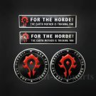 4pcs For The Horde Emblem Car Auto Sticker Badge World of Warcraft WOW Alliance