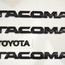 FIT FOR Toyota 2012 2013 2014 2015 Tacoma matte Black Emblems 4 PCS