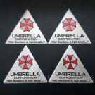 4pcs Aluminum Resident Evil Umbrella Car Trunk Rear Emblems Badge Decal Sticker