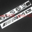 Chrome Trunk Letters Emblems Emblem Badge Sticker for Mercedes Benz GLS63 S AMG